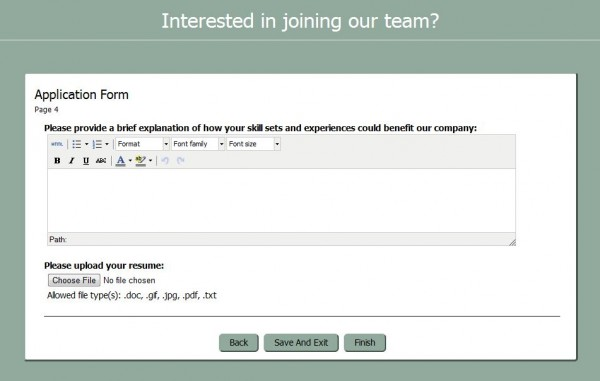 Hiring Create An Application Form With Checkbox Survey Software Blog